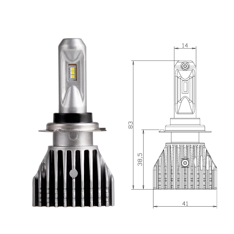 H7 LED 6SMD no fan